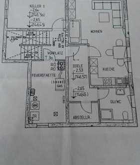 helle großzügige 1-Zimmer-Wohnung 46 qm
