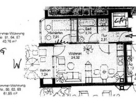 TOP-Lage Thalkirchen, 1,5-Zimmer-Wohnung - Balkon, Wohnk., Parkett, Fussbodenhzg. PROV frei