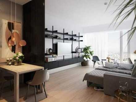 Eine neue Form der urbanen Freiheit: 1-Zimmer-Apartment mit Skylineblick
