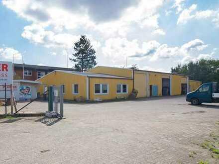 Beste Gewerbelage von Plön, große Halle mit angrenzendem Büro und Außenfreifläche