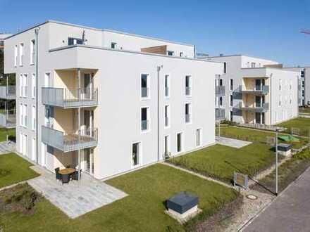 Hochwertig und schick Wohnen! 2-Zimmer-Terrassenwohnung mit eigenem Gartenanteil