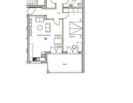 Moderne 2-Zimmerwohnung in zentraler Lage in Waldbronn