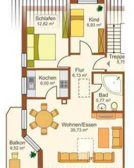 Stilvolle, vollständig renovierte 3-Zimmer-Dachgeschosswohnung mit Balkon und EBK in Bad Rappenau