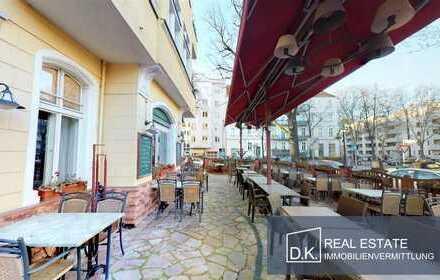 Eck-Restaurant parallel zur Schloßstraße in Berlin-Steglitz
