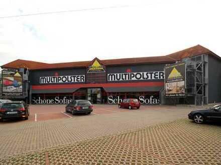Moderner Möbelfachmarkt mit über 9 Jahren Restlaufzeit und guter Visibilität an der B181 in Leipzig