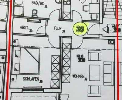Gepflegte 2-Zimmer-Dachgeschosswohnung mit Balkon und Einbauküche in Lörrach (Kreis)