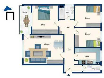 Ruhige 4 Zi. Wohnung im Erdgeschoss