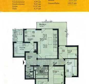 TOP-Lage- Schöne ruhige Wohnung in Achern mit großem Balkon und Küche