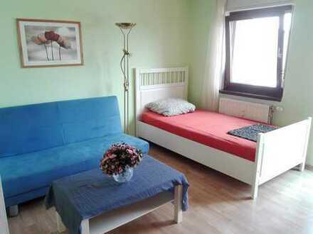 Möblierte und gepflegte 1-Zimmer-Wohnung mit Einbauküche und Balkon in Leimen