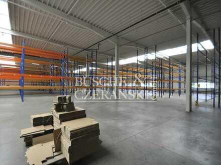 Metelen    Hochwertige 2.600 m² Halle mit 150 m² Büro/Sozialräume    2 Rolltore    Frei ab sofort