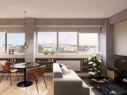 1-Zimmer-Apartment mit hohem Wohnkomfort und eigener Dachterrasse in lebendiger Nachbarschaft