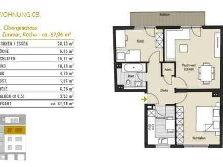Natürlich Köln! 3-Zimmer-Wohnung in Köln Bickendorf zu verkaufen! WE 02
