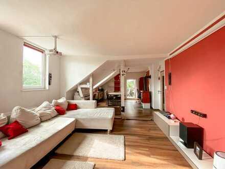 Moderne 5,5-Raum-Maisonette-Wohnung mit Terrasse und Einbauküche in der Brühlervorstadt