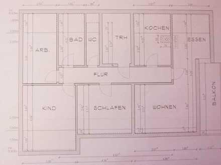 Sanierte 4,5-Zimmer-Dachgeschosswohnung mit Balkon und Einbauküche in Hardt