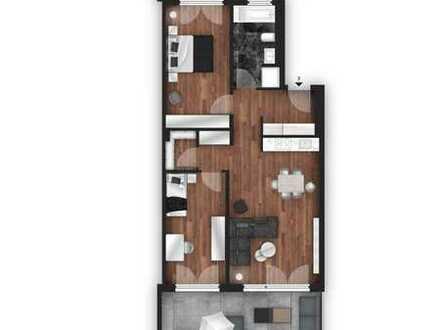 NEUBAU Attraktive 3-Zimmer Wohnung mit 2 Terrassen und Garten - KFW55