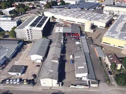 Lagerhalle auf Gewerbehof mit Anbindung an Autobahn zu vermieten