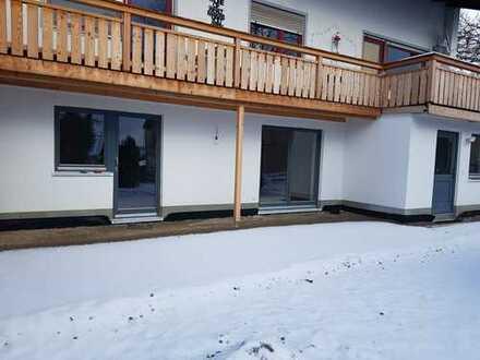 Erstbezug: schöne 2-Zimmer-EG-Wohnung mit Balkon in Burggen