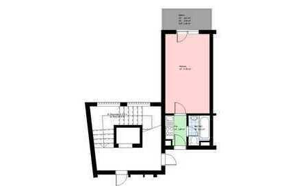 *Zentrum*möbliertes Apartment*Küche mit EBK*Bad/WC mit Wanne*Kellerabteil*