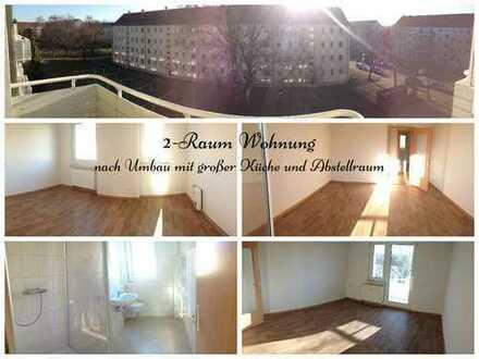 2-Raum-Wohnung nach geplantem Umbau mit großer Küche und Abstellraum!