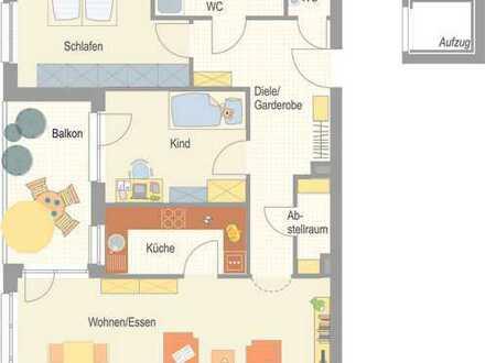 Erstbezug - 3,5 Zimmer Wohnung mit Einbauküche und Westbalkon!