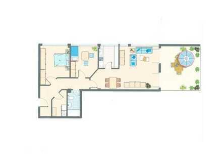 Wohnung mit großer Terrasse in exponieter Lage