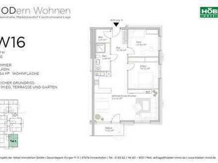 90,64 m² mit großem Wohn-/Essbereich und offener Küche • Südbalkon • 1. OG