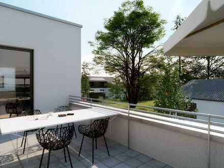 Riesiges Penthaus m. Süd/West-Dachterrasse & toller Aufteilung im Grünen