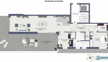 AS-Immobilien.com +++ BAD ORB Das gibt es nur EINMAL - Penthouse am KURPARK zu vermieten +++