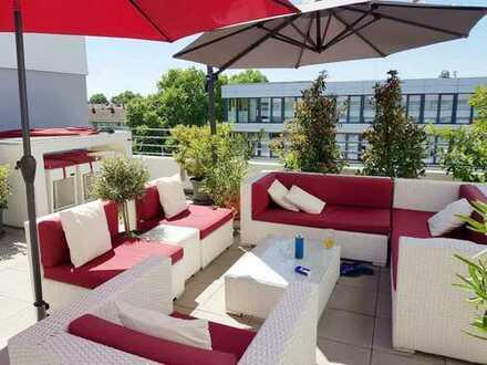 Penthouse-Traum in bester Lage mit EBK auf 124 m² und zwei riesigen Terrassen.