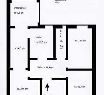 Schöne, gepflegte 5-Zimmer-Hochparterre-Wohnung in Herne sucht neue Bewohner