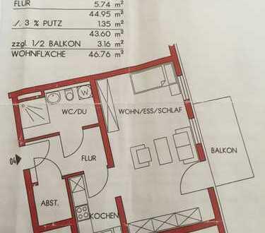 Gepflegte 1,5-Zimmer-Komfortwohnung mit Balkon und Einbauküche in Bad Elster