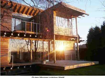 Wohnung über 3 Geschosse in ökologischem Architekten-Landhaus mit idyllischem Garten, provisionsfrei