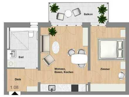 Schlüchtern-SeniorenWohnen: 2 Zimmer-Wohnung mit Balkon im Erstbezug - TYP 49