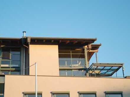 LUXUS Penthaus Wohnung über 2 Etagen mit Terassen, Sauna und Dampfbad in Augsburg-Haunstetten