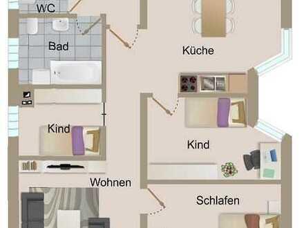 Neu renovierte 4 Zimmer Erdgeschosswohnung mit Carport und Garten in zentraler Lage von Knittelsheim