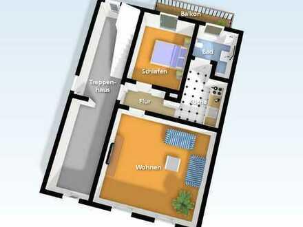 Sanierte 2-Zimmer-EG-Wohnung mit Balkon in Neustadt/Dosse