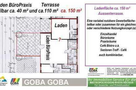 LADEN BÜRO- PRAXISRÄUME Aussenterrasse - aktuell frei oder später/4-2020