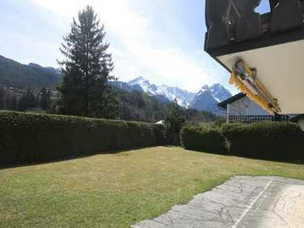 *Charmante & gemütliche ETW als DHH mit 1A Bergblick in beliebter, ruhiger Wohnlage v. Garmisch*