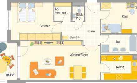 Bietigheim-Bissingen große 3,5 Zimmer Wohnung mit sonnigem Westbalkon