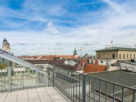 Altstadt! Moderne Dachterrassen-Wohnung in historischem Jugendstilgebäude