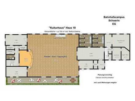 """""""Kulturhaus"""" ideal für Veranstaltungen, direkt am Hbf. Schwerin + Cafe/Restaurant + Parkplätze"""
