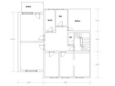 Sanierte 5-Zimmer-Wohnung mit Balkon in Lippstadt