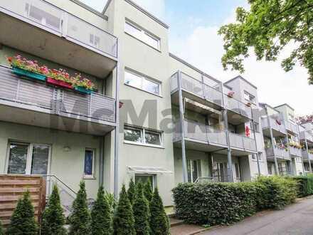 Vermietet: Gepflegte 2-Zi.-ETW mit Westbalkon in begrünter Wohnlage von Chemnitz-Kappel