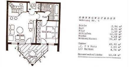 Schöne helle 2,5 Zi Wohnung mit Balkon im Herzen von Schönaich