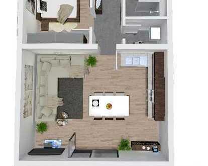 Neubauwohnung im Herzen Deggendorfs, ca. 63m² , 2 - Zimmer, 2.OG