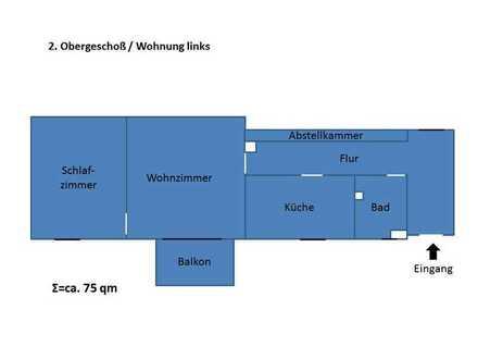 Sanierte 2-Raum-Hochparterre-Wohnung mit Balkon in Gersthofen