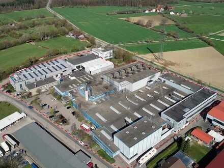 25.000 m² großes Gewerbeareal mit Produktions-, Lager- und Verwaltungsgebäuden