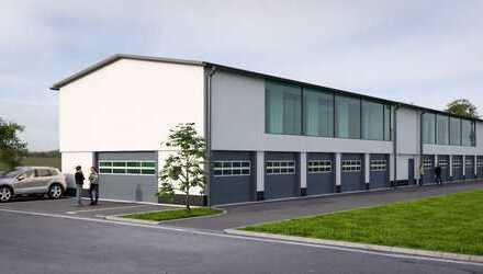 *Neubau* moderne Produktions- und Lagerhalle mit Büroflächen nahe Frankfurt *Im Bau* Herbst 2019