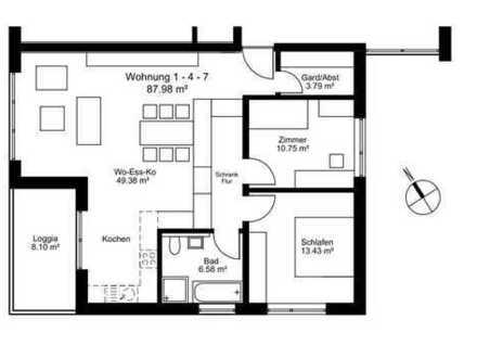 Neuwertige 3-Zimmer-Wohnung Bezugsfrei zum 01.01.2020
