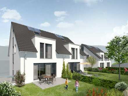 Neubau-Reihenhäuser in ruhiger Lage mit Garage und großem Garten in Hessigheim!